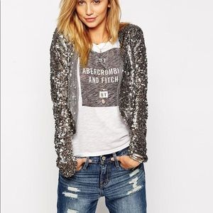 Abercrombie & Fitch sequin jacket